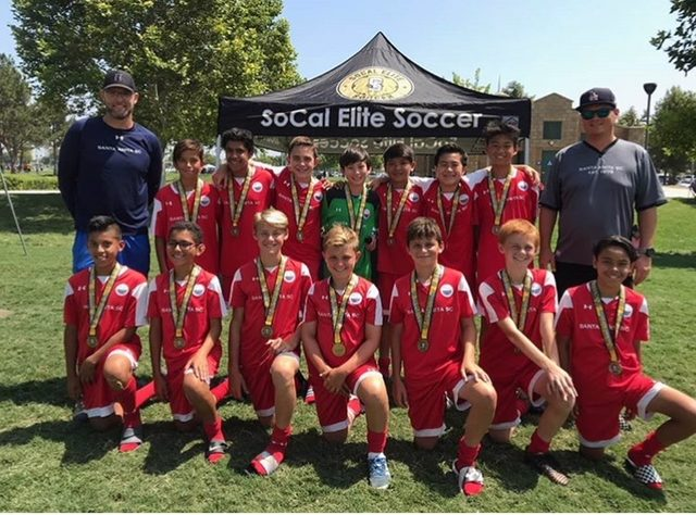 Boys 2005 -Win 1st place  bracket in the SoCal Elite Summer League.