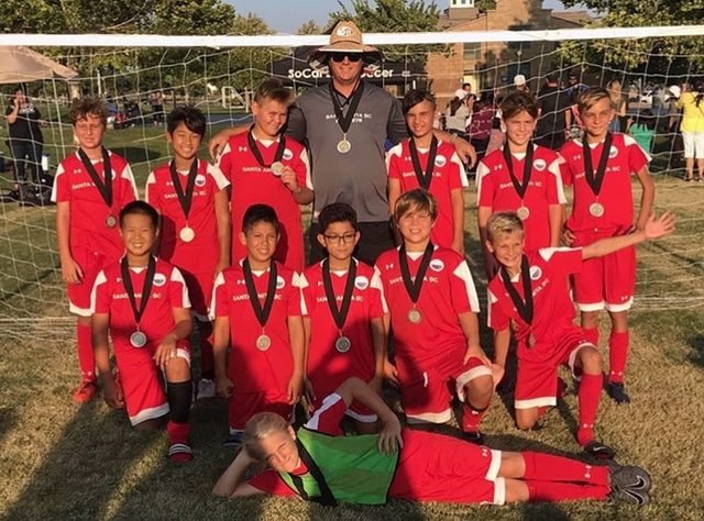 Boys 07 (Coach Troy)-Finish 2nd place  in their bracket in the SoCal Elite Summer League.
